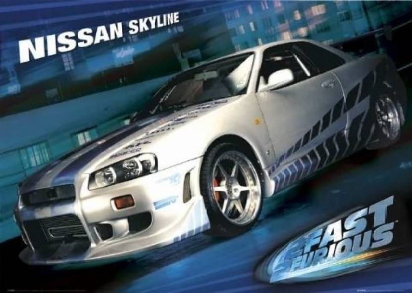 2 Fast Furious Skyline Maxi Poster Photographic Paper 2401 Inch X 3602