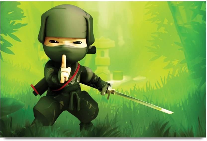 Amy Mini Ninjas Cartoon 3D Poster - Nature posters in India