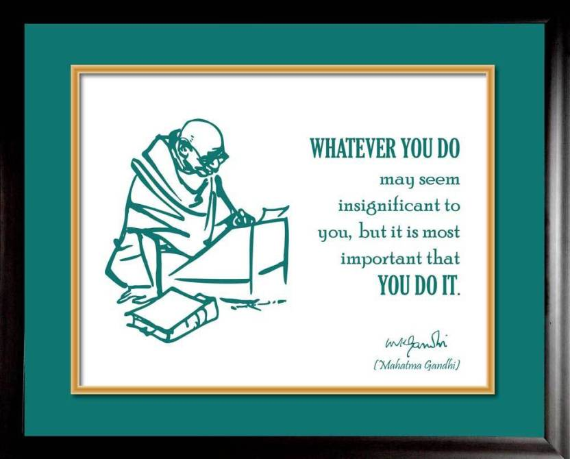 Thoughts By Mahatma Gandhi Photographic Paper Quotes Motivation