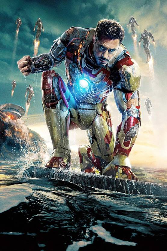 Athah Iron Man 3 Poster Paper Print - Movies posters in