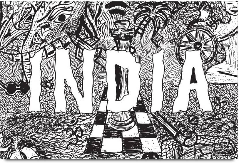 bgfanstore Shikha Thakur India Doodle Art PS10002135 Paper Print ...