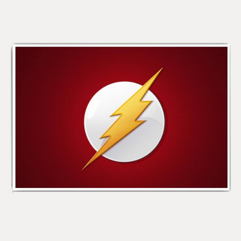 the flash sign logo epic jumbo size poster Paper Print