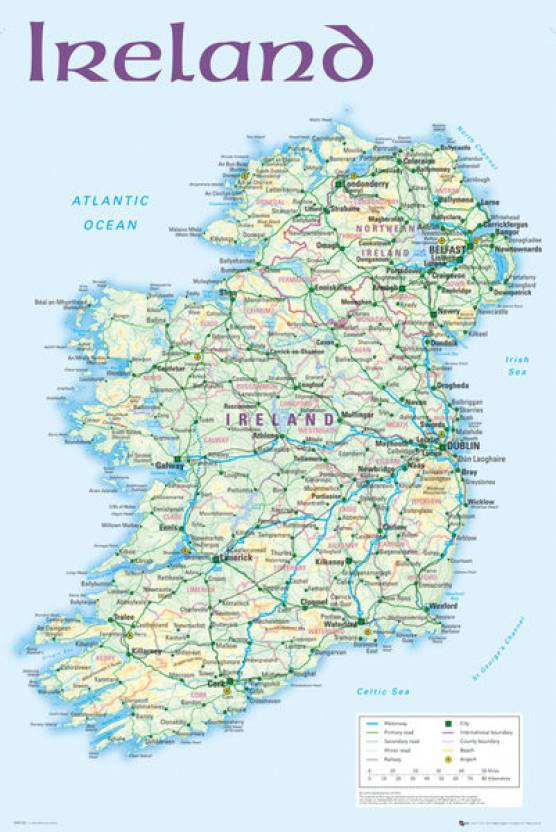 Print Map Of Ireland.Ireland Map 2012 Paper Print Maps Posters In India Buy Art