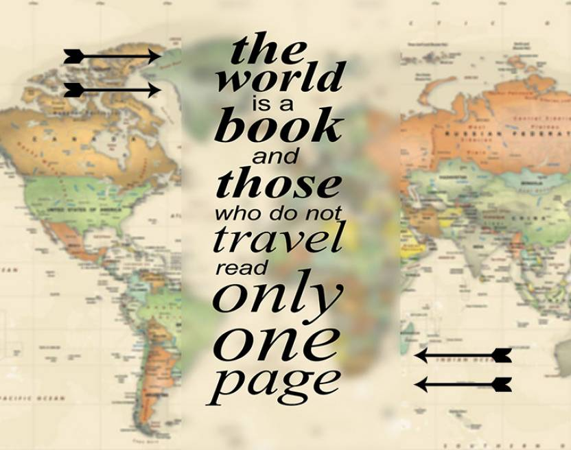 Quotes on world map fine art print painting mantra posters maps quotes on world map fine art print gumiabroncs Image collections