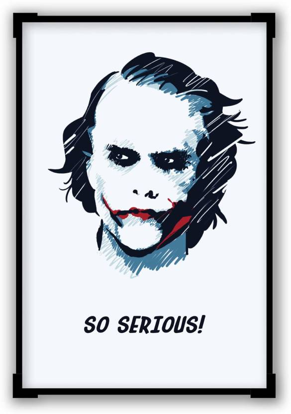 8bc8586a Posterguy Heath Ledger Joker Inspired From The Dark Knight Laminated A4  Poster Paper Print (12 inch X 8 inch, Framed)