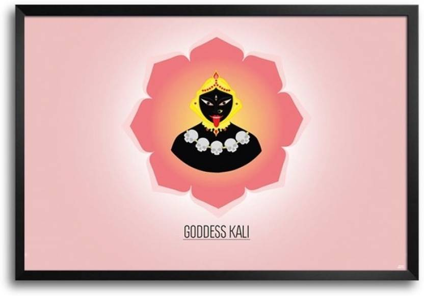 Goddess Kali Framed Photographic Paper - Religious posters in India