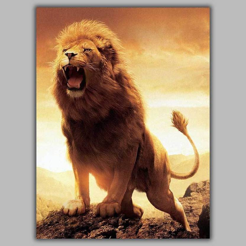 Best Lion Poster Photographic Paper Abstract Animals Animation
