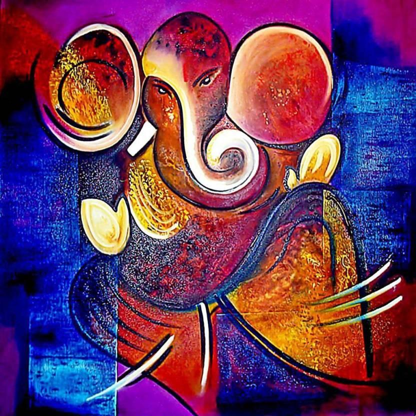 ganpati bappa design 1 paper print art paintings posters in