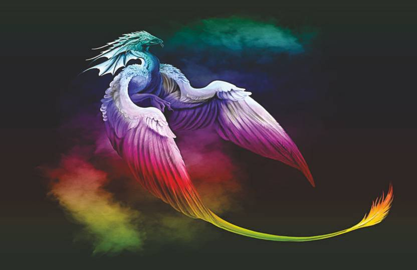 Colormart Colorful Flying Dragon Poster Photographic Paper