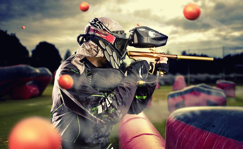sports paintball gun time lapse wall poster paper print sports