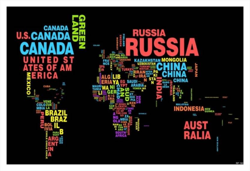 Regent world map written poster paper print maps posters in regent world map written poster paper print gumiabroncs Image collections