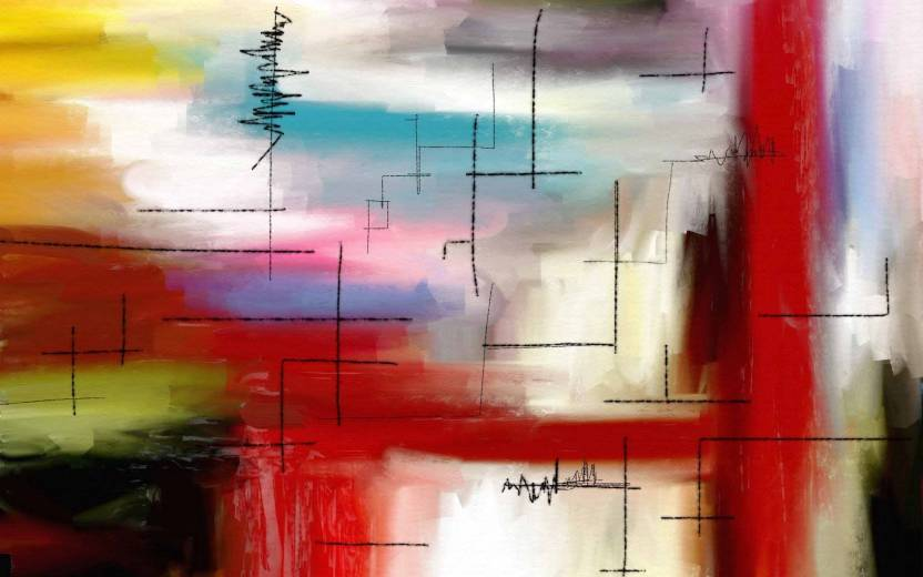 Painting without Frame Art Abstract-9 (34X22) Canvas Art - Abstract ...