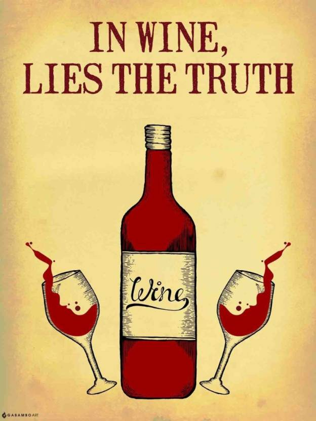 2ee1477d7 AnanyaDesigns Wall Poster Wine Truth Paper Print - Humor posters in ...