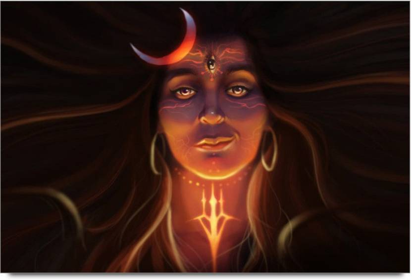 Lord Shiva Wallpapers 3d: Amy Lord Shiva 3D Face Art 3D Poster