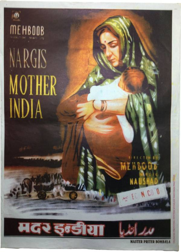 Vintage Bollywood Original Reprinted Mother India Large