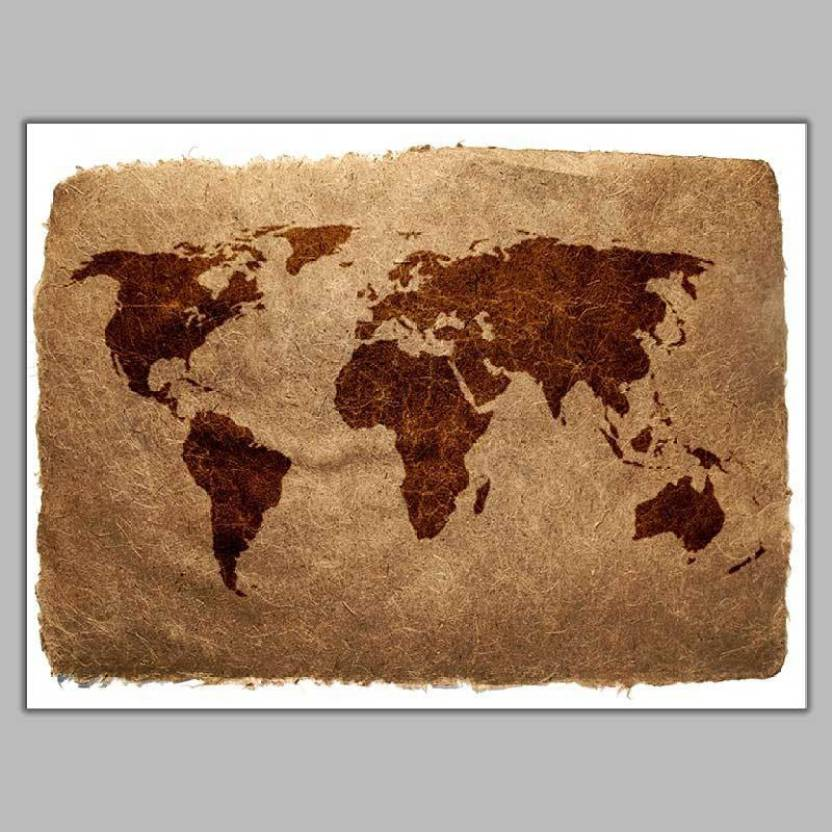 World Map Poster Photographic Paper - Abstract, Animals, Animation on