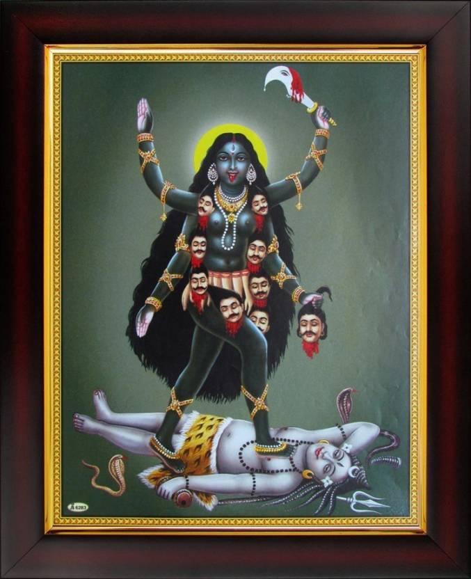Godess Kali / Mahakali / Kalika Poster Paper Print - Art & Paintings