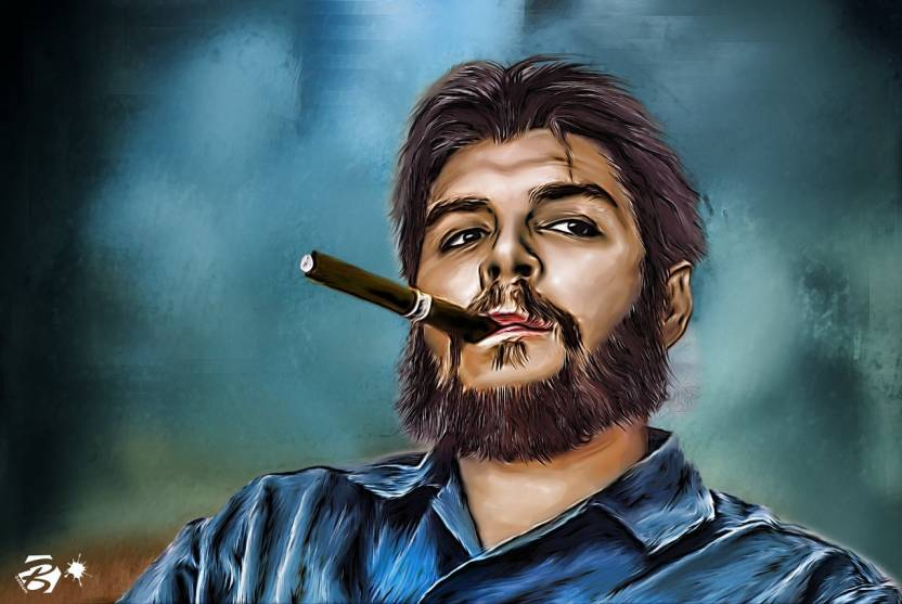che guevara painting portrait poster wall poster hd on fine art