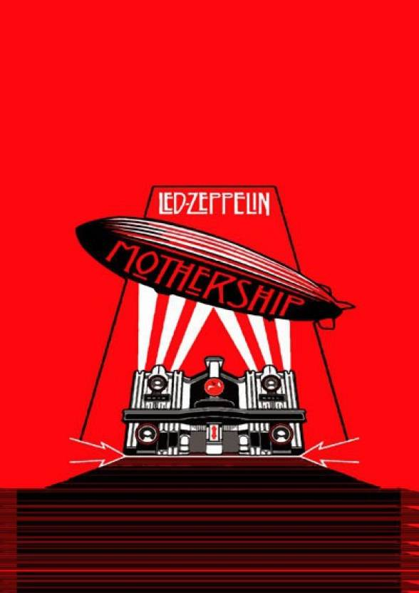 Led Zeppelin - Mothership Rock A4 Cotton Canvas High Quality Printed ...