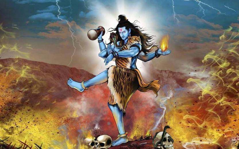 lord shiva tandav poster paper print religious posters in india