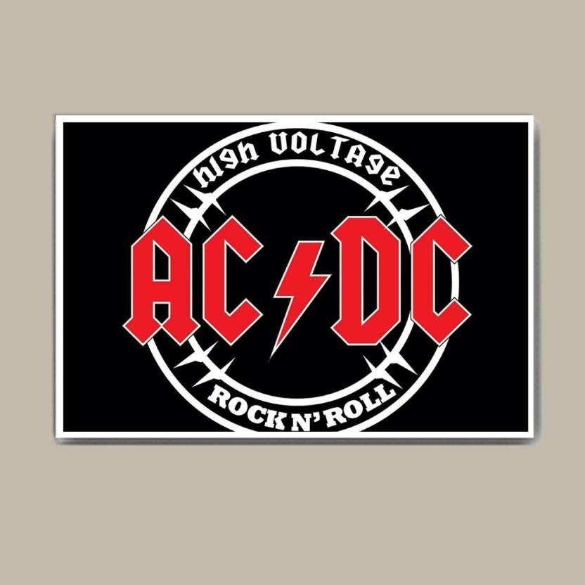 Ac Dc Superior Logo Wall Hang Fine Art Print Abstract