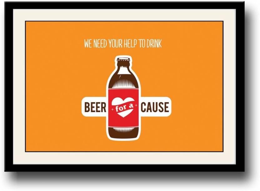 Ananyadesigns Wall Poster Funny Beer Quotes Paper Print Humor