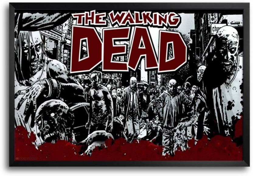 Rangeeleinkers The Walking Dead Red Artwork Laminated Frame Poster