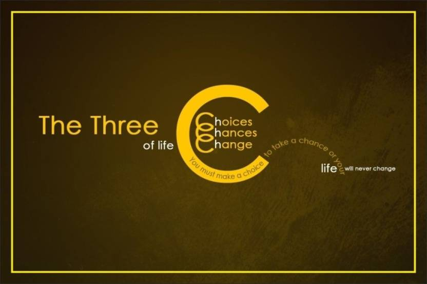 PrintingGali The Three C's Of Life Quote Posters Paper Print Interesting Life Quote Posters