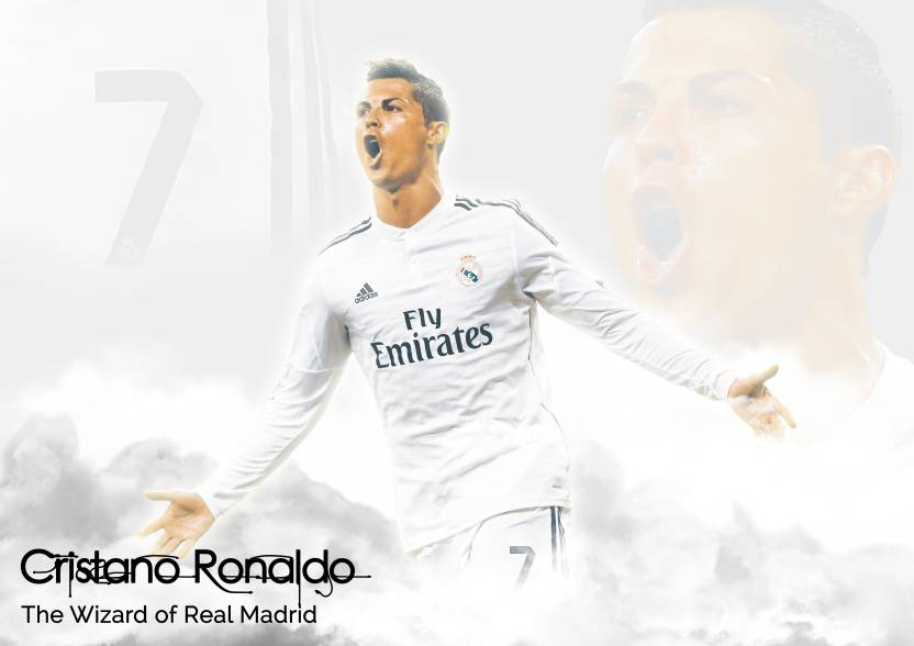 release date: 798bd b826d Cristiano Ronaldo Clouds Poster Paper Print - Sports, Gaming ...