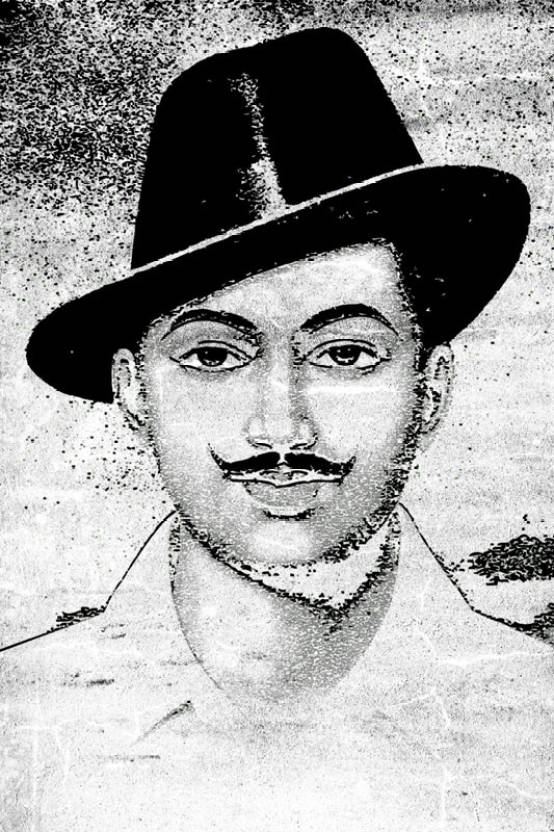 Bhagat Singh Sketch Paper Print Personalities Posters In India