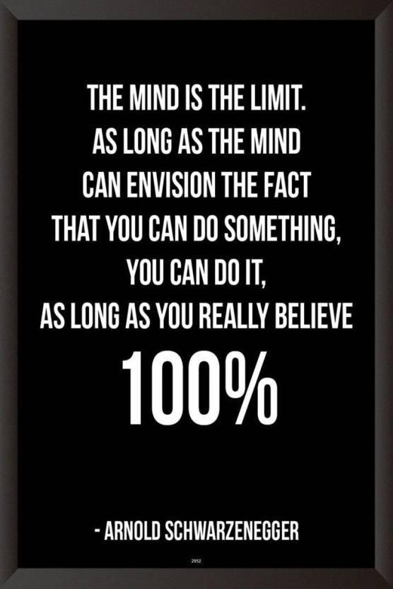 Arnold Schwarzenegger Quote Poster Paper Print Quotes Motivation