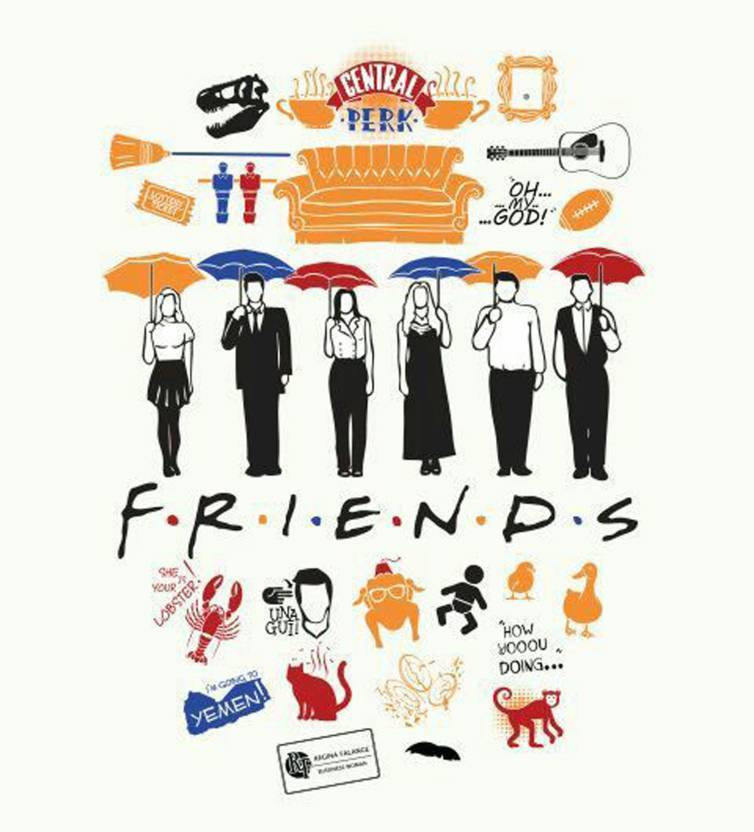 Friends TV Series HD WALLPAPER POSTER Fine Art Print