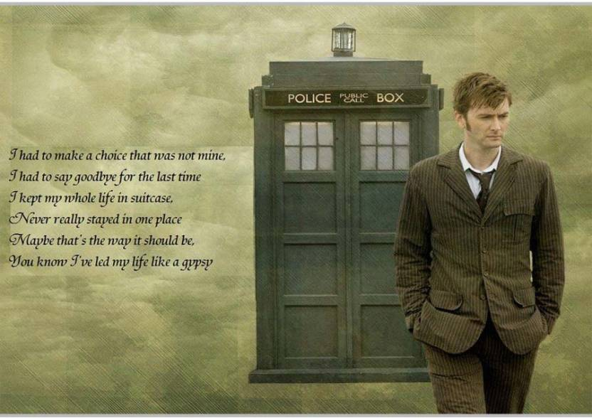 Doctor Who David Tennant Quotes Poster (18 X 12 Inches) By