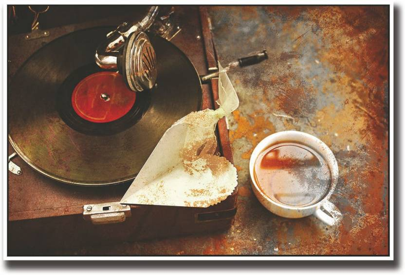 Vintage vinyl record player Fine Art Print - Music posters in India
