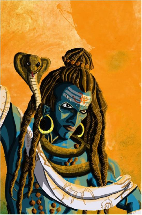 angry shiva tandav poster paper print religious posters in india