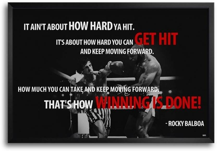 Rocky Balboa Quotes Fp00004633 Framed Photographic Paper