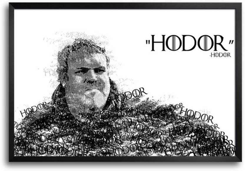 RangeeleInkers Game Of Thrones Hodor Typography Laminated Frame ...