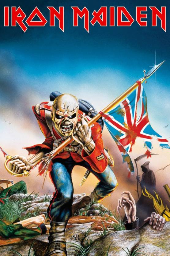 Iron Maiden Trooper Paper Print Music Posters In India Buy Art