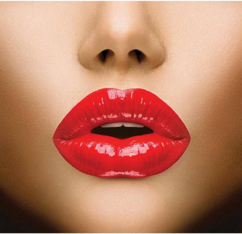 Sexy Lips Beautiful Make Up Framed Art Print Canvas Art