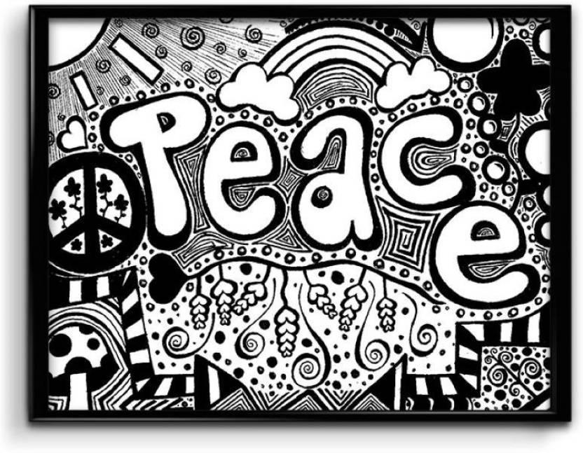 Peace Doodle Art Canvas
