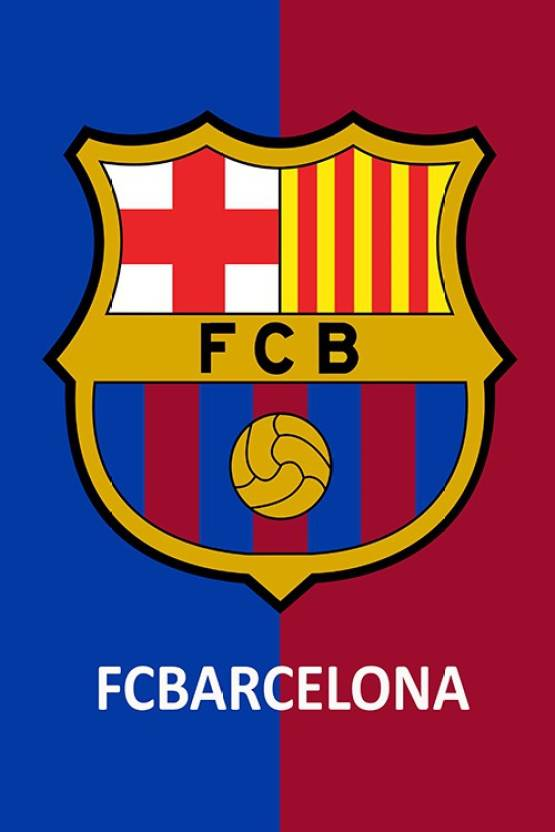 Fc Barcelona Logo Photographic Paper Sports Posters In