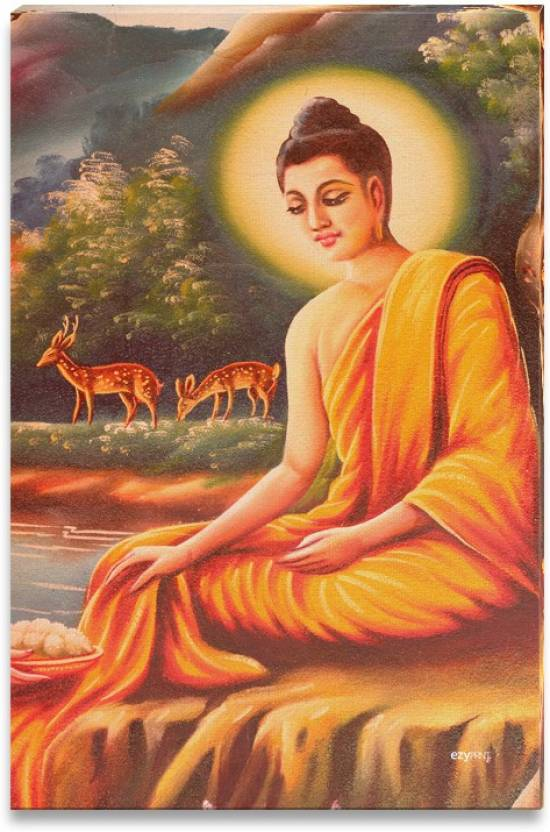 buddha painting canvas art religious posters in india buy art