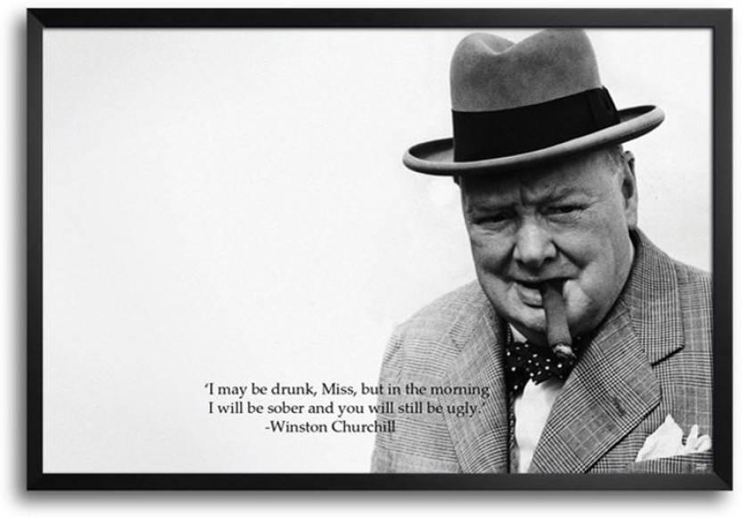 c50d5167f7c05 Winston Churchill Quote FP00002697 Framed Photographic Paper