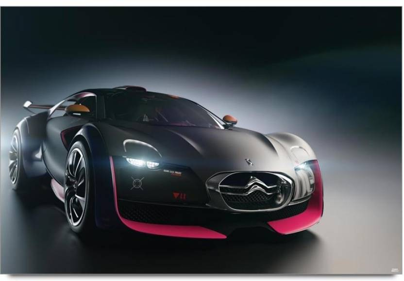 Black Beast Sports Car Paper Print Vehicles Posters In India Buy