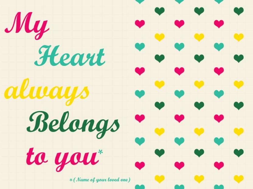 My Heart Belongs To You Quotes Fine Art Print Pop Art Minimal Art