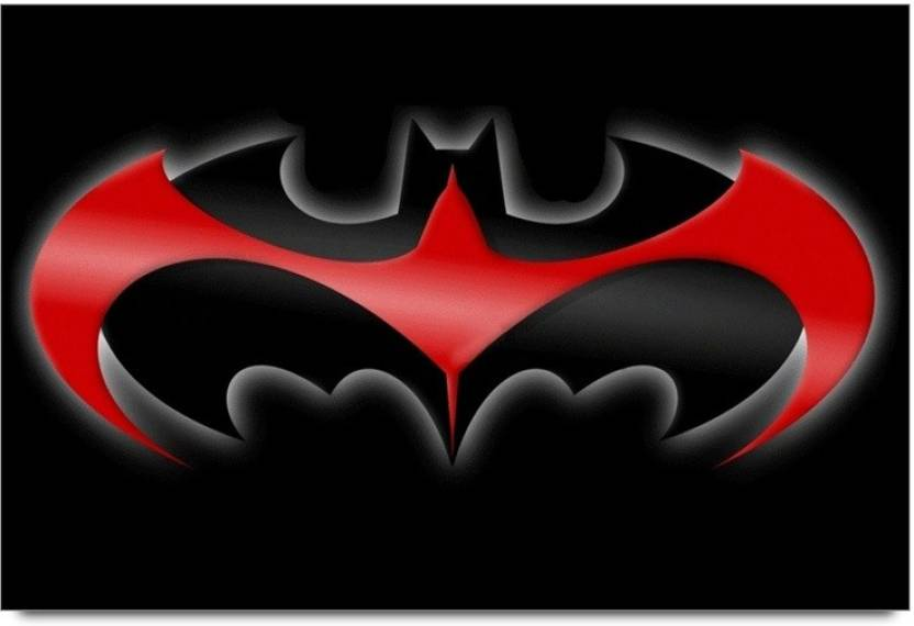 Amy Red And Black Batman Logo 3d Poster Movies Posters In India