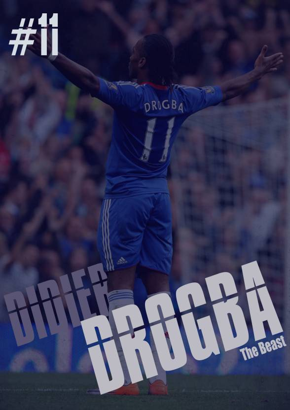 wholesale dealer 7bf31 d81d2 Didier Drogba Poster Paper Print - Sports, Pop Art posters ...