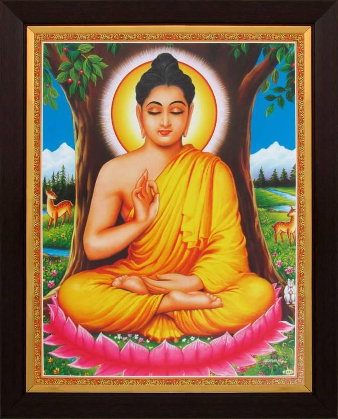 lord buddha gautam buddha poster paper print art paintings