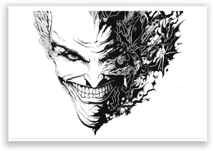 Joker from the batman series dark knight landscape poster paper print