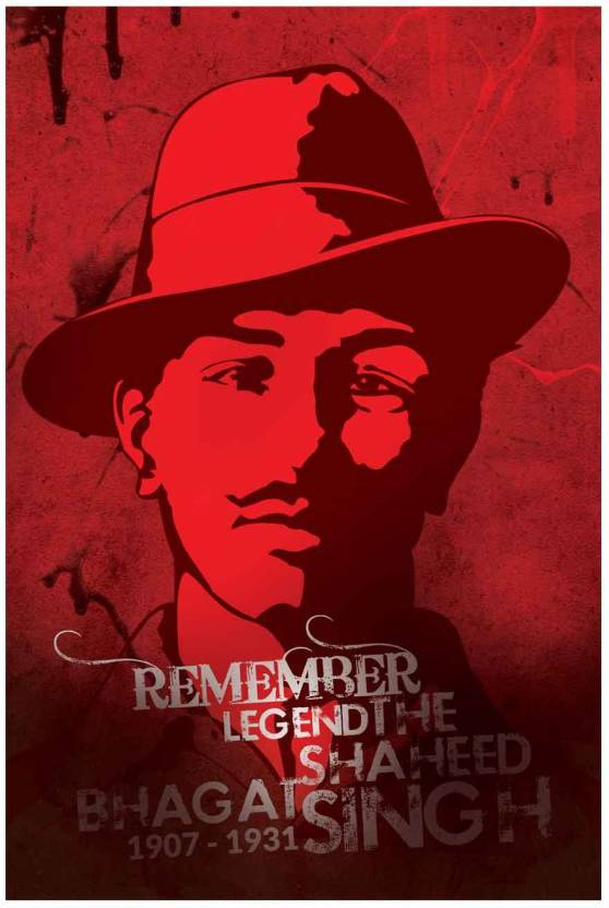 Remember Legend The Shaheed Bhagat Singh Fine Art Print Quotes